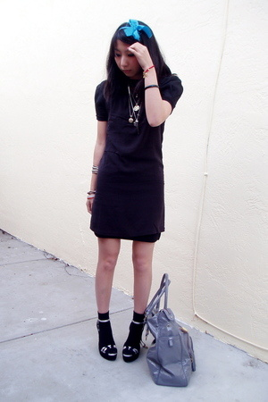 Alexander Wang dress - D-Havz shoes - random brand socks - fabric scrap