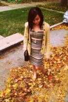Jones New York dress - Ralph Lauren sweater - talbots purse - Casadei shoes - f2