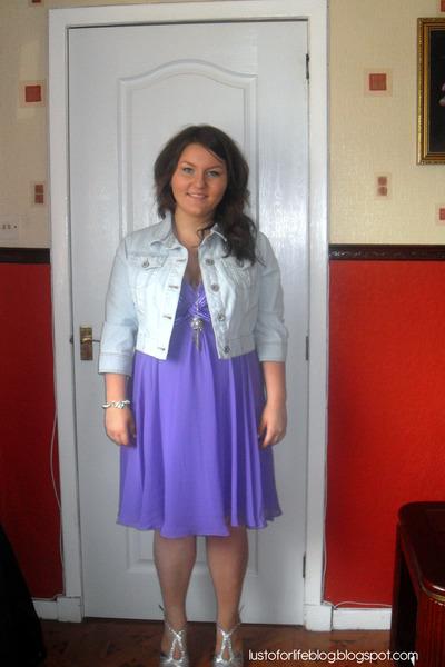 denim jacket with dress. blue denim jacket new look
