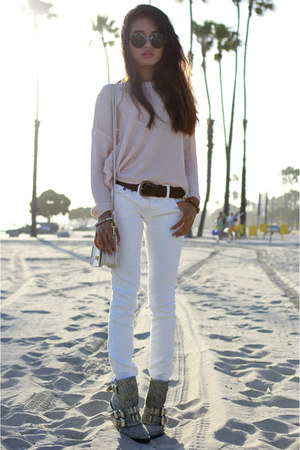 mia belt Club Monaco belt - hanne boots Alexander Wang boots - free people jeans