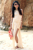 side slit dress AGAIN dress - Rebecca Minkoff bag