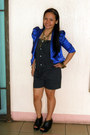 Blue-satin-studded-blazer-brown-layered-forever-21-necklace-black-wedges-b