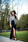 Navy-chiffon-banana-republic-blouse-black-maxi-costa-blanca-skirt