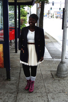 jacket - boots - Forever 21 socks - accessories - joe fresh style stockings - sk