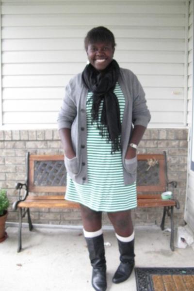 joe dress - Gap sweater - shoes - ae socks