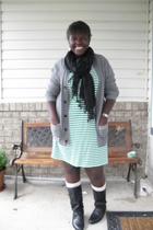 joe dress - Gap sweater - shoes - ae socks