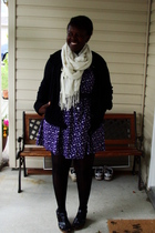 joe fresh style jacket - H&M scarf - Value Village dress - ardenes stockings - O
