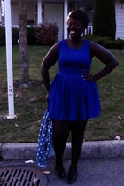 Forever 21 dress - jacket - shoes - Forever 21 tights - accessories