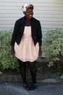 Pink-h-m-dress-black-jacket-black-hot-topic-stockings-browns-shoes-pink-