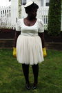 Black-thrifted-jacket-white-thrifted-skirt-white-h-m-shirt-gold-deena-oz