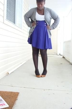 H&M top - Gap sweater - skirt - wal-mart tights - joe fresh style shoes