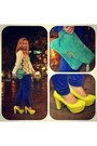 Chartreuse-leather-bag-mango-bag-blue-harem-pants-sm-department-store-pants