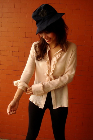 vintage ruffle shirt