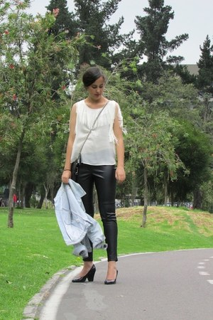 MNG jacket - Zara shirt - Forever 21 pants