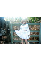 white Mink Pink dress - black joanna platform Dolce Vita heels