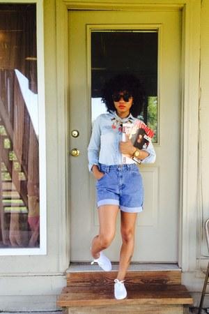 Walmart shirt - liz claiborne shorts - Michael Kors watch