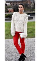 new look jumper - H&M bag - Zara pants