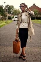 Burberry jacket - Zara bag - vintage skirt - Zara jumper - Reiss heels