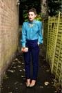 Vintage-bag-primark-heels-primark-blouse-zara-pants