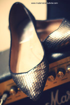 silver leather Zara shoes