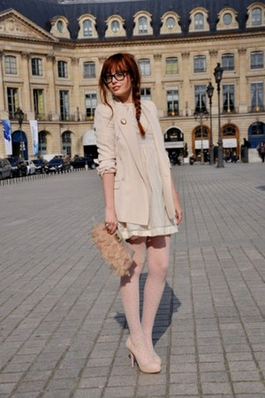 nude feather clucth asos accessories