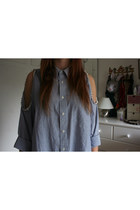 perls thrifted shirt