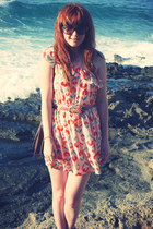 light orange H&M belt - salmon River Island dress