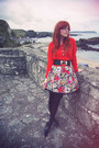 Black-matalan-dress-carrot-orange-h-m-sweater