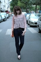 light pink H&M top