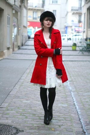 ruby red Sheinside coat