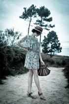beige new look dress - brown porronet sandals