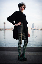 green woolford tights - black Chie Mihara shoes - black paul smith black coat