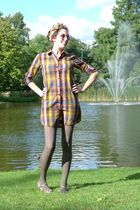 Scotch & Soda shirt - brown H&M tights - brown scarf - beige Zara shoes