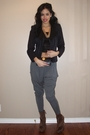 Black-vintage-blazer-black-bebe-see-through-tank-top-top-gray-silence-noise-