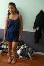 Blue-adore-jumper-white-jessica-simpson-shoes