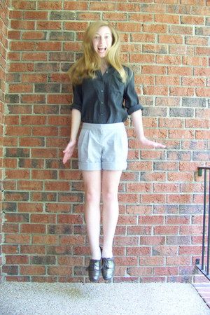 thrifted shorts - ecote blouse - oxfords Kimchi Blue flats
