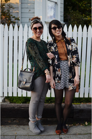 sequin thrifted shirt - kimono DIY jacket