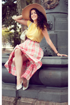 bubble gum Vintage & Coffee skirt - light yellow Vintage & Coffee t-shirt