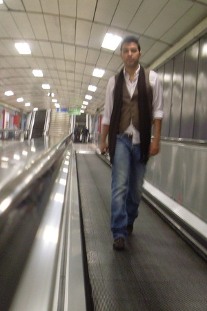 Sfera shirt - H&M vest - Zara scarf - salsa jeans