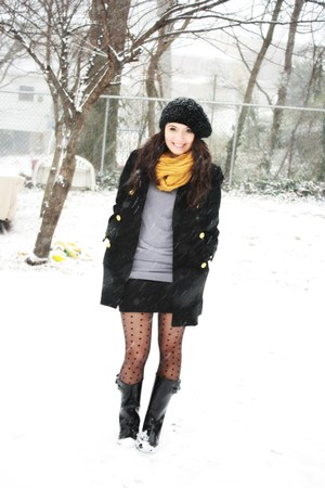 black Forever 21 coat - black Urban Outfitters tights