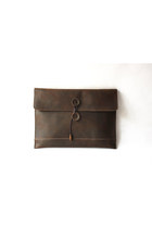 Genuine Cow Leather Briefcase /Men's leather Clutch/ leather bag/ satchel