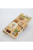Cute Childlike Patchwork Fold Vintage-inspired Purse Wallet