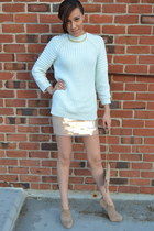 H&M sweater - Aldo bag - Zara heels - H&M skirt - gold h&n necklace