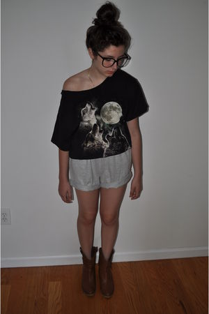 DIY shorts - Kohls boys department shirt - Random street vendor glasses