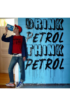 red petrol t-shirt