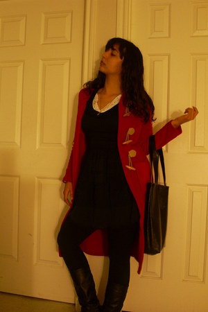 Kmart bag - Hot Topic boots - ross stores dress - rainbow coat