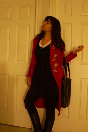 Kmart bag - Hot Topic boots - ross stores dress - rainbow coat