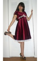 brick red random brand dress - tawny Rue 21 heels