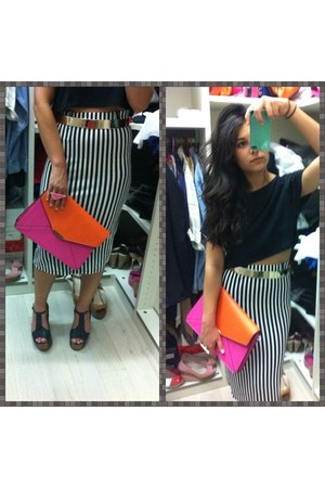 black fullah sugah skirt - hot pink Accessorize bag