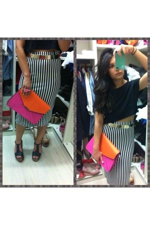 black fullah sugah skirt - hot pink Accessorize bag